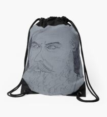 Johannes Brahms drawing Drawstring Bag
