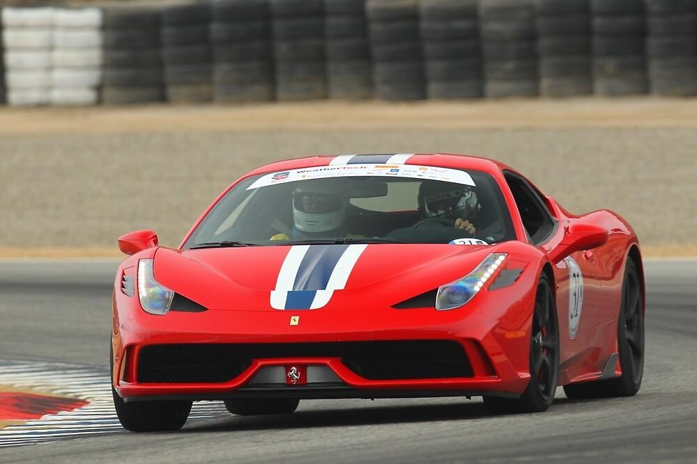 Ferrari 458 Speciale at Laguna Seca by kkayden