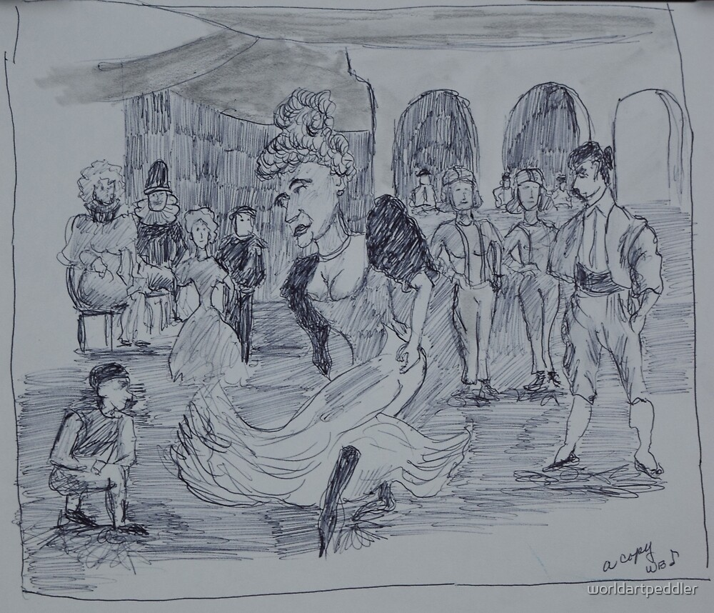 Victorian Scene by worldartpeddler