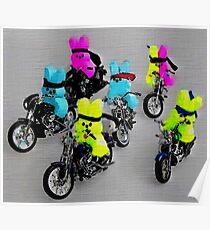 Biker Bunnies Poster
