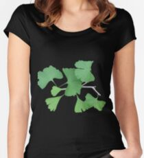 Ginkgo Leafy Branch   Women's Fitted Scoop T-Shirt