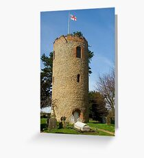 Round Tower at Church of St Andrew, Bramfield, Suffolk Greeting Card