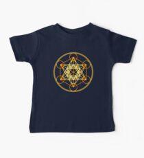 Camiseta para bebés Cubo de Metatrones, Flor de la vida, Geometría Sagrada