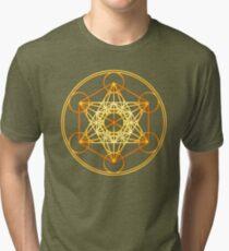 Metatrons Cube, Flower of life, Sacred Geometry Tri-blend T-Shirt