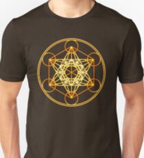 Metatrons Cube, Flower of life, Sacred Geometry Unisex T-Shirt