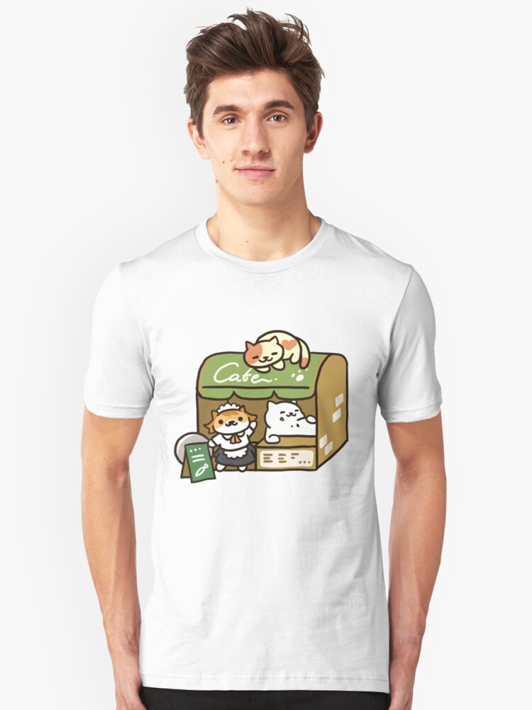 Tubbs at the Cafe - Neko Atsume Unisex T-Shirt Front