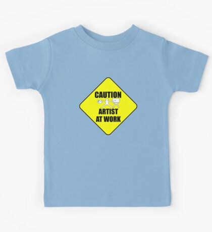 artist at work sign Kids Clothes