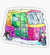 Tuk Tuk Purple Auto Rickshaw Sticker