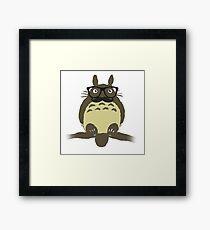 My Hipster Totoro Framed Print
