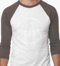 Urban Faun - White on Black Men's Baseball ¾ T-Shirt