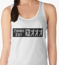 ZOMBIE EXIT SIGN by Zombie Ghetto Women's Tank Top