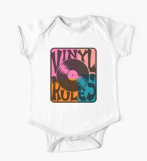 Vinyl Records Rule Pop Art One Piece - Short Sleeve