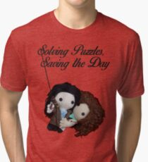 Solving Puzzles, Saving the Day Tri-blend T-Shirt