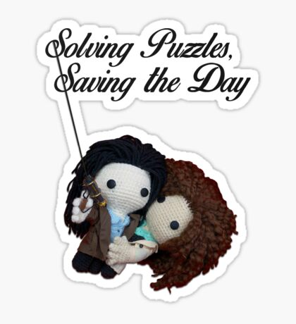 Solving Puzzles, Saving the Day Sticker