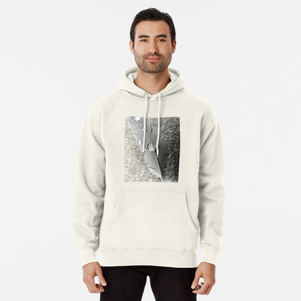 Feather with dew drops Hoodie