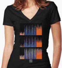 """""""Sorting Algorithms 1""""© Women's Fitted V-Neck T-Shirt"""
