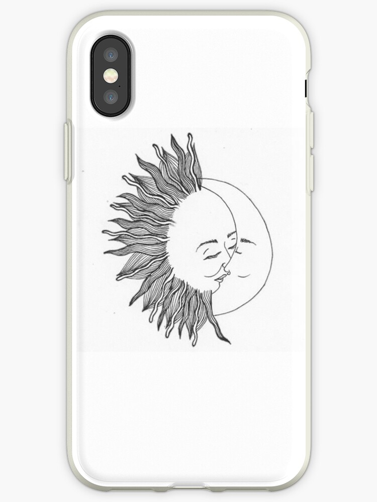 buy online 922b3 bf223 'Sun and moon' iPhone Case by Megollivia