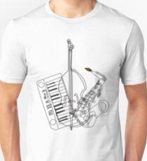 Saxophone, Double Bass, Keyboard  T-Shirt
