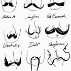 Types Of Mustache - Funny Mustache  von Selfcontrol