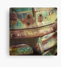 Chevy Patina Canvas Print