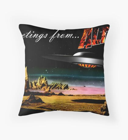 Greetings from Altair IV Throw Pillow