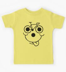 Funny Bike Cycling Face Kids Clothes
