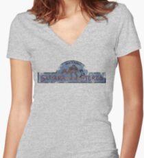 Sahara Stereo Women's Fitted V-Neck T-Shirt