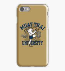 MUAY THAI UNIVERSITY iPhone Case/Skin