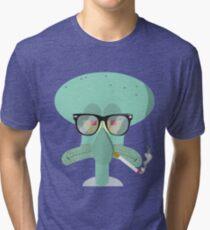 Hipster Squidward Tri-blend T-Shirt