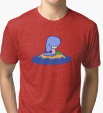 Whales love beaches Tri-blend T-Shirt