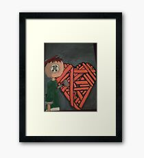 knitted heart Framed Print