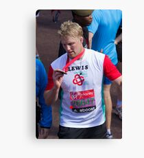 Lewis Moody with his London Marathon medal Canvas Print
