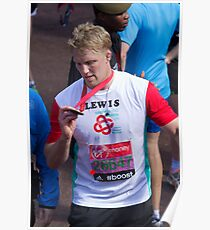 Lewis Moody with his London Marathon medal Poster