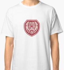 Maori Mask Tongue Out Shield Retro Classic T-Shirt