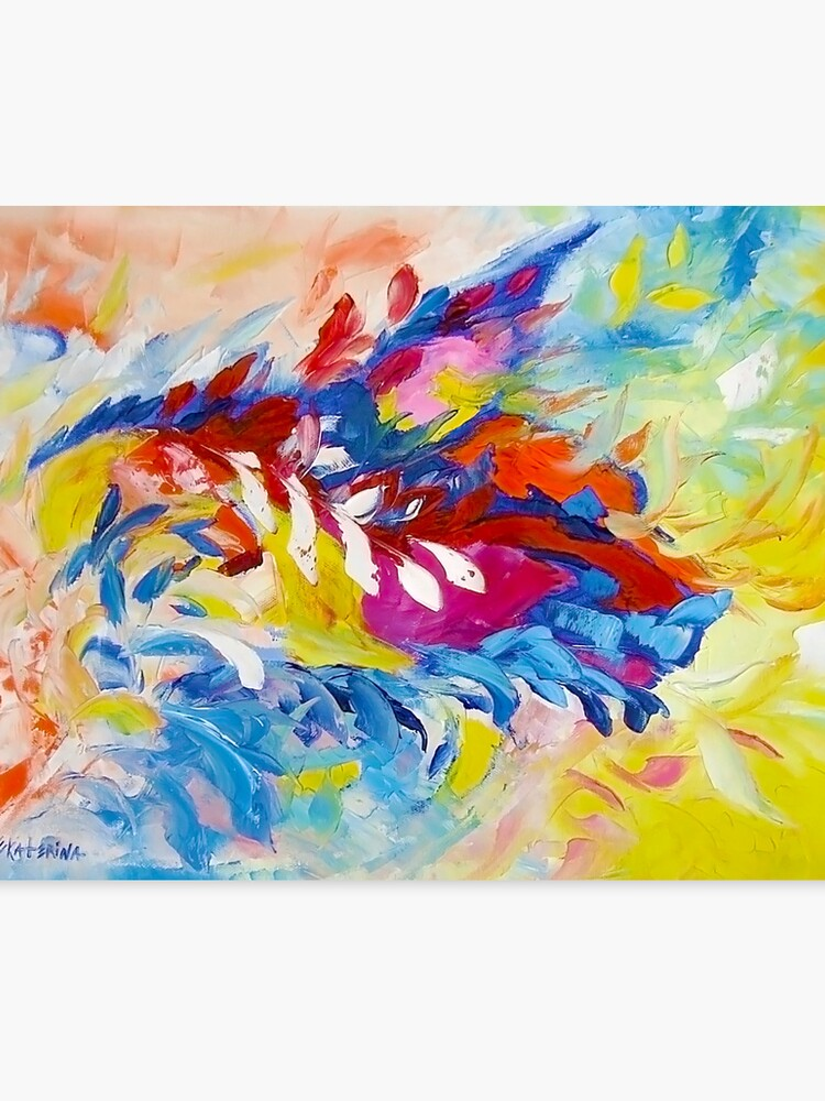 Cat Panther Painting Abstract Art Bright Colors By Ekaterina Chernova Canvas Print