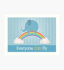 Everyone Can Fly Art Print