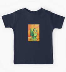 Chinese Junk Sails at Sunrise Kids Tee