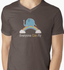 Everyone Can Fly V-Neck T-Shirt