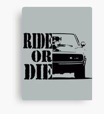 F&F, ride or die Canvas Print