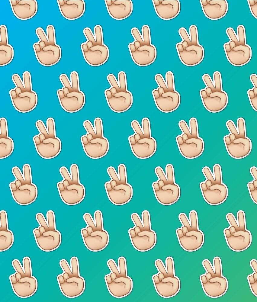 Peace Emoji Pattern  by Lucy Lier