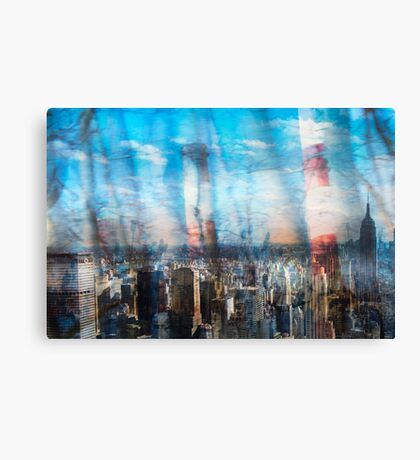 Willows and Stacks in the City Canvas Print