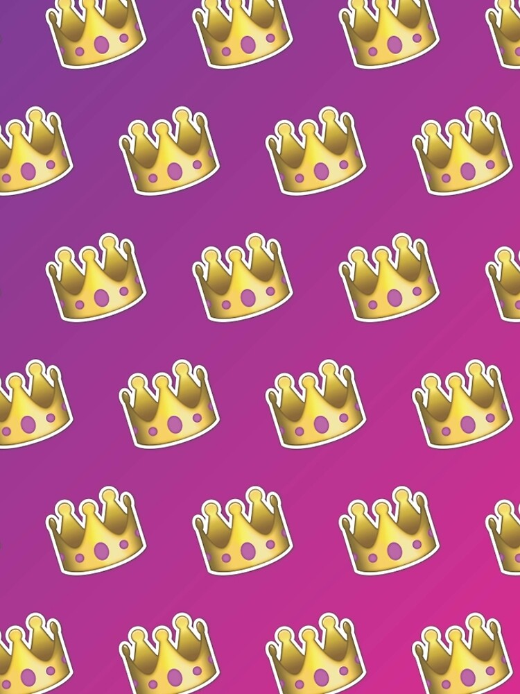 Crown Emoji Pattern Pink and Purple by llier4