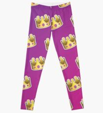 Crown Emoji Muster Pink und Lila Leggings