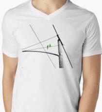 Love Birds Geometry Men's V-Neck T-Shirt