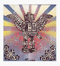 Flying Robot Photographic Print