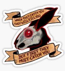 Schwarzes Kaninchen von Inle (einfarbiger Hintergrund) Sticker