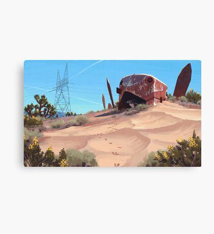 Mojave Metal III Canvas Print