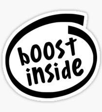 Boost Installed Inside Sticker