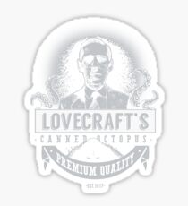Lovecraft's Canned Octopus -Light- Sticker