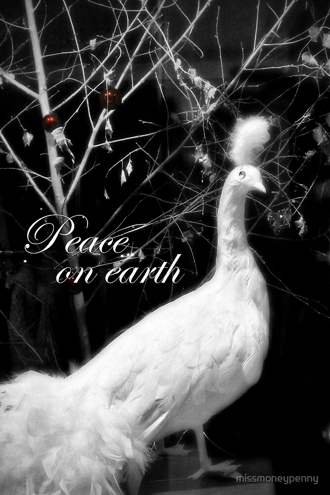 Peace on earth - peacock by missmoneypenny